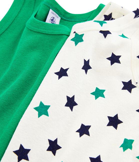 Boys' Linen/Cotton Vests - 2-Piece Set . set