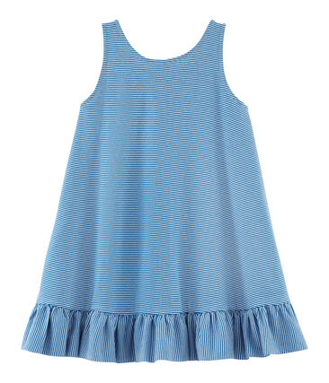 Girls' Dress Riyadh blue / Marshmallow white