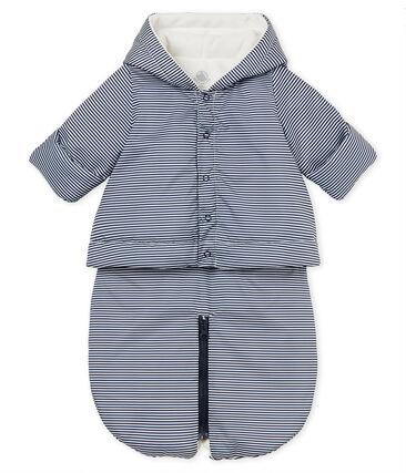 Unisex baby 3-in-1 snowsuit Smoking blue / Marshmallow white