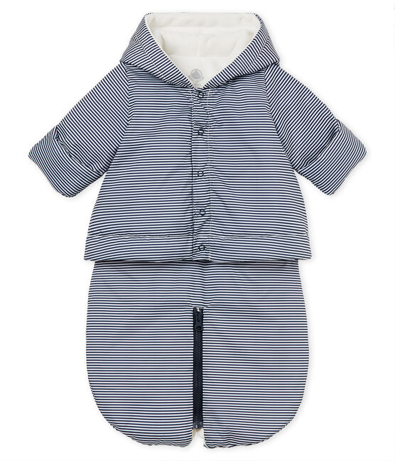 Unisex baby 3-in-1 snowsuit Smoking blue / Marshmallow white