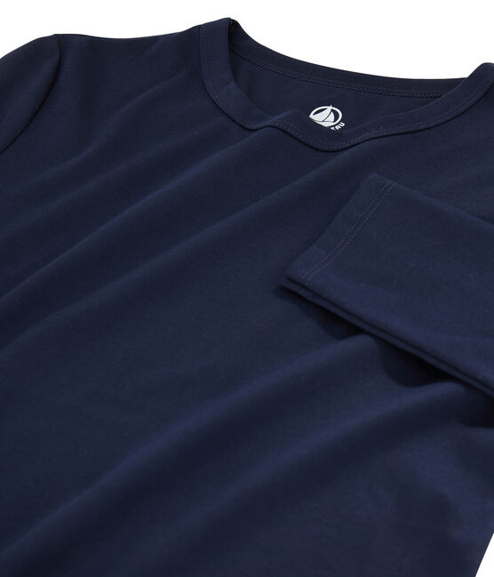 Women's Sea Island cotton T-shirt Marine blue