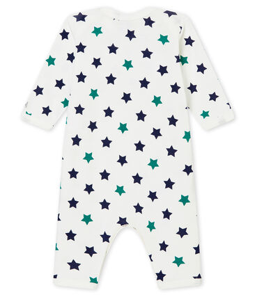Baby boy's footless sleepsuit and bib