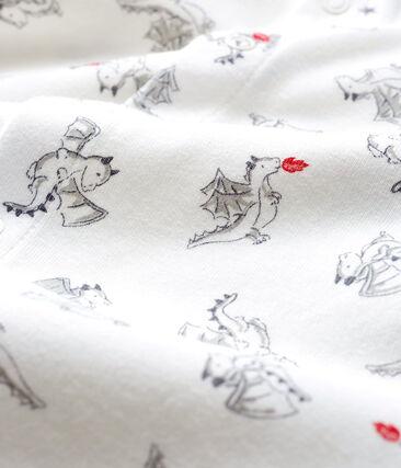 Baby Boys' Footless Ribbed Sleepsuit Marshmallow white / Multico white