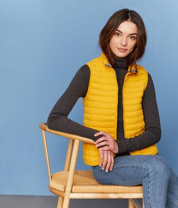 Women's Sleeveless Tube Knit Down Jacket Boudor yellow