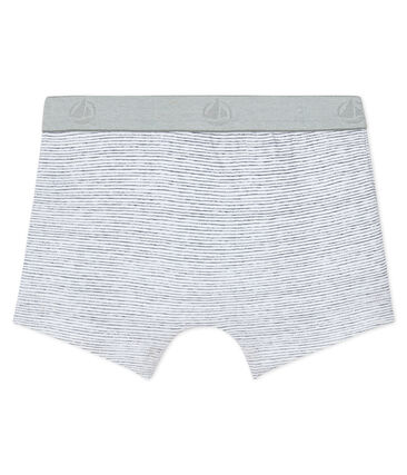 Boys' boxer shorts Ecume white / Maki grey