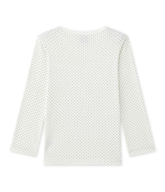 Tee-shirt de pyjama fille Mix & Match Lait white / Maki grey