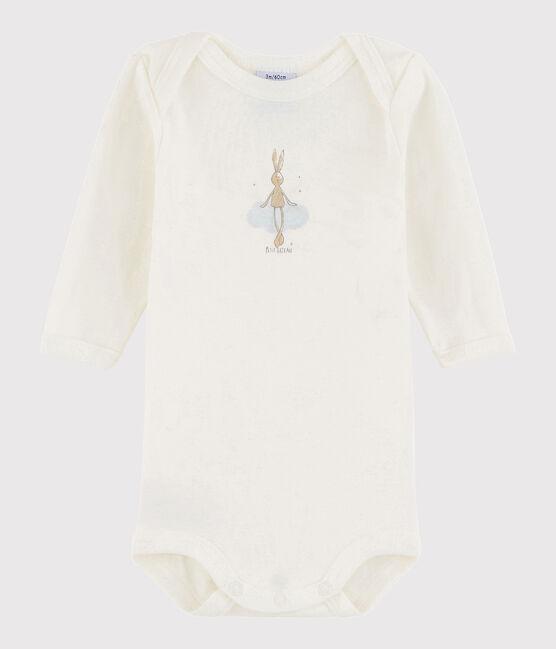 Baby Boys' Long-Sleeved Bodysuit Lait white