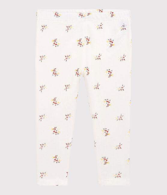 Baby Girls' Print Cotton Leggings Marshmallow white / Multico white