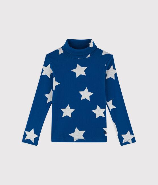 Unisex Printed Undershirt Major blue / Ecume white