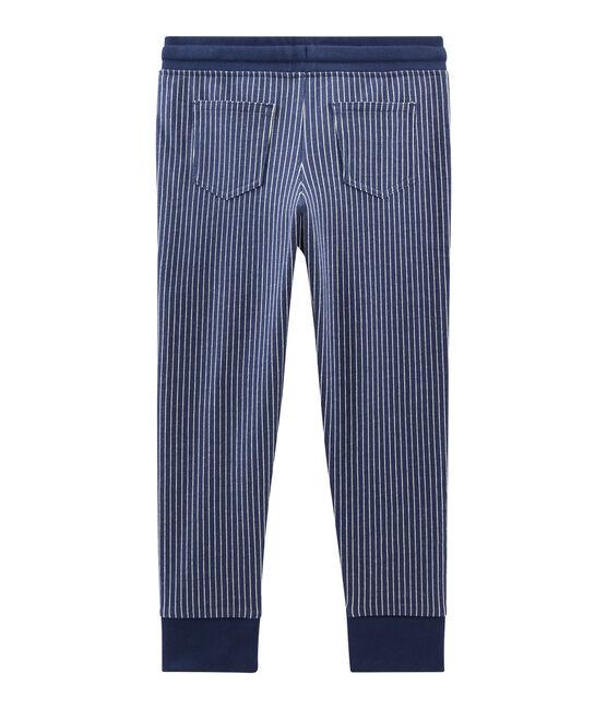 Boys' Knit Trousers Smoking blue / Marshmallow white