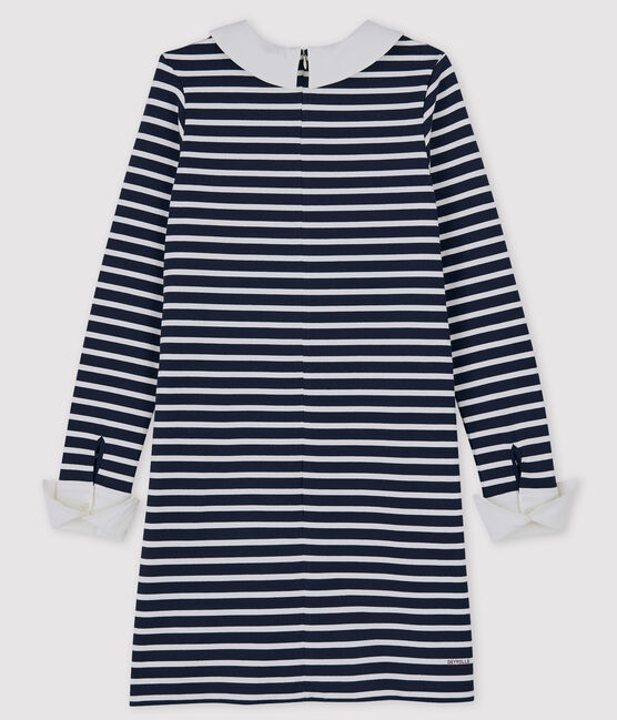 Petit Bateau x Deyrolle Women's Dress Smoking blue / Marshmallow white