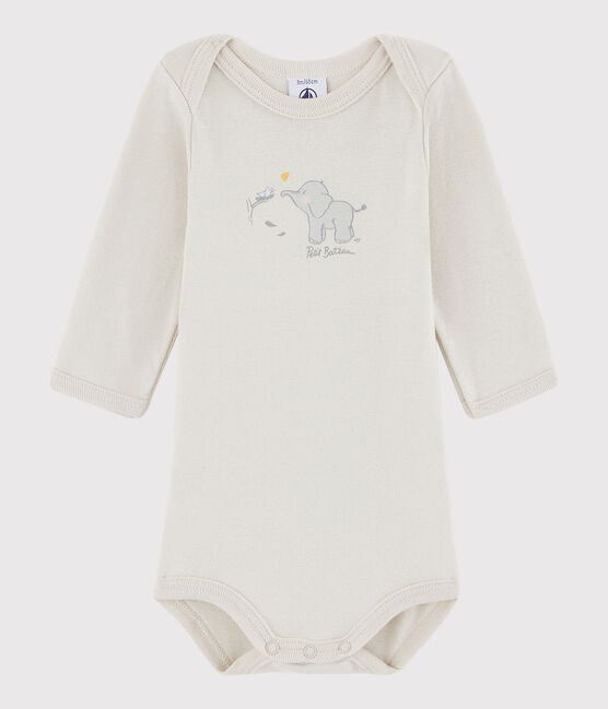 Unisex Babies' Long-Sleeved Bodysuit Neutre grey