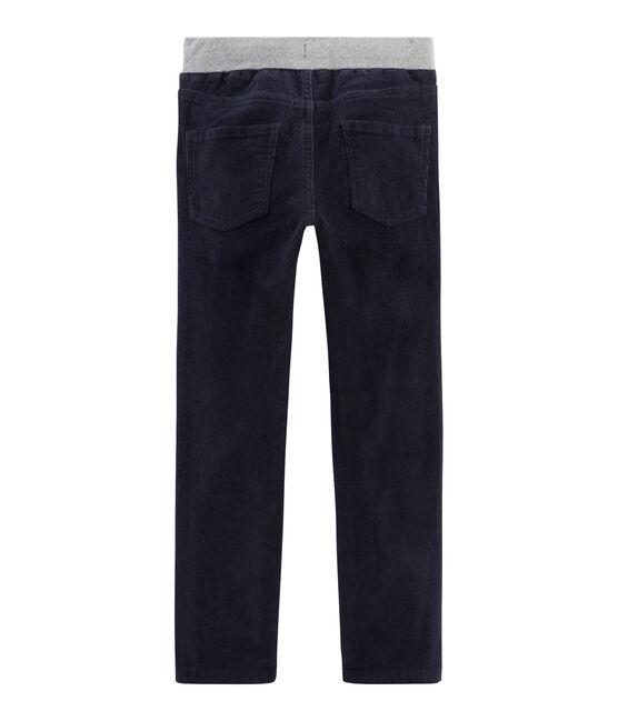 Boys' Velour Trousers Smoking blue