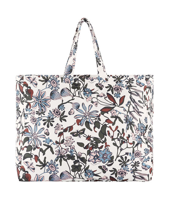 Printed tote bag Marshmallow white / Multico white