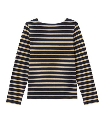 Girl's shiny breton top
