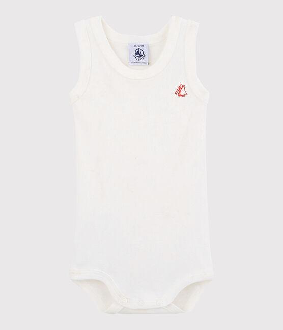 Unisex Babies' Sleeveless Bodysuit Marshmallow white