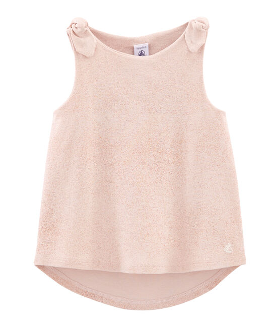 Girls' Sleeveless Top Pearl pink / Copper pink