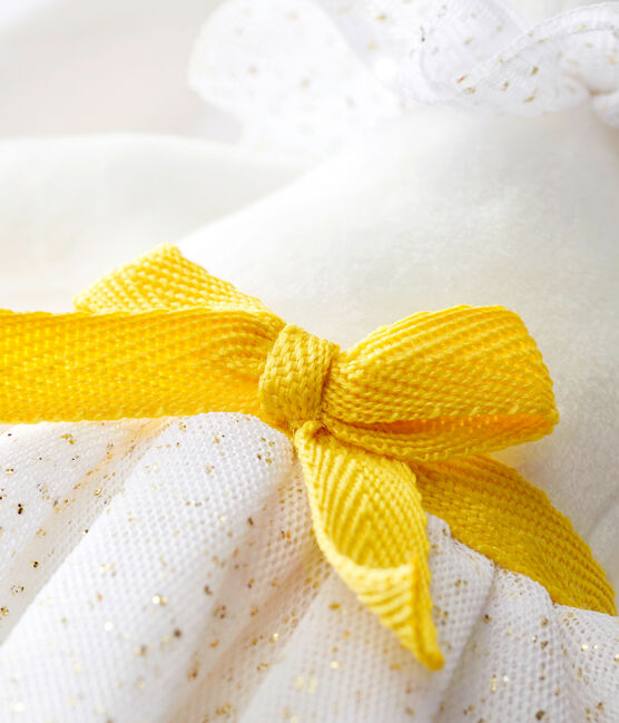 Dancing rabbit comforter Marshmallow white / Dore yellow