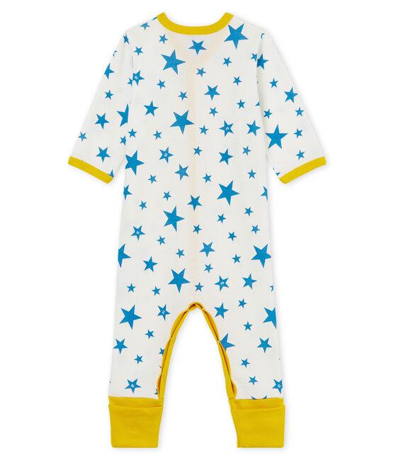 Baby Boys' Footless Sleepsuit Marshmallow white / Alaska blue