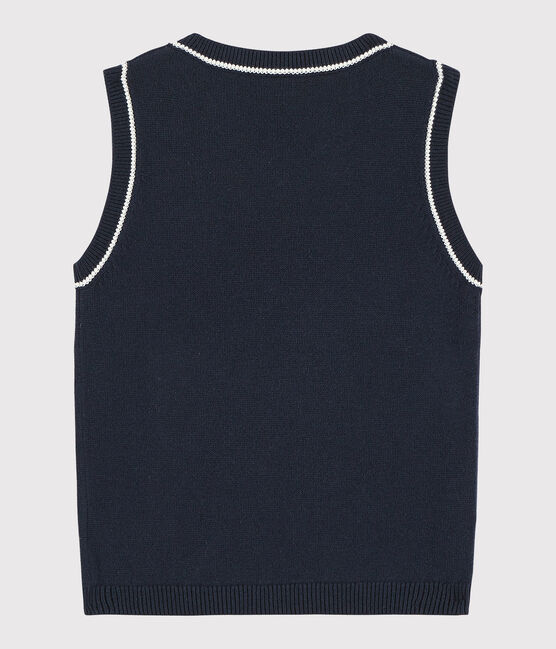 Boys' Sleeveless Pullover Smoking blue