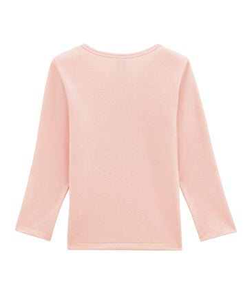 Little girl's long sleeved tee-shirtin wool and cotton