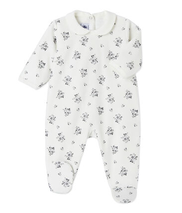 Baby girl's printed sleeper Lait white / Multico white