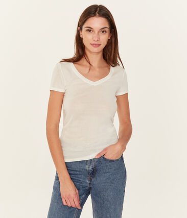 Women's short-sleeved v-neck iconic t-shirt
