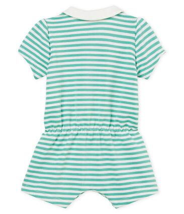 Baby girls' striped polo shirt shortie