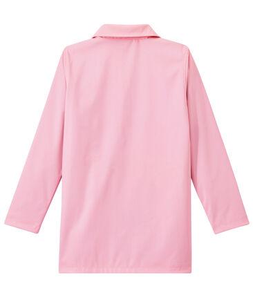 Women's overcoat-style waterproof raincoat Babylone pink