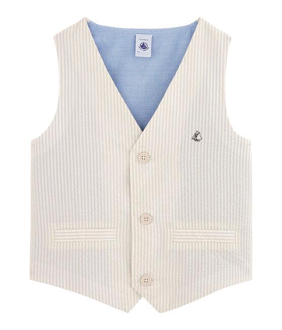 Boys' Sleeveless Jacket beige Beige / Marshmallow white