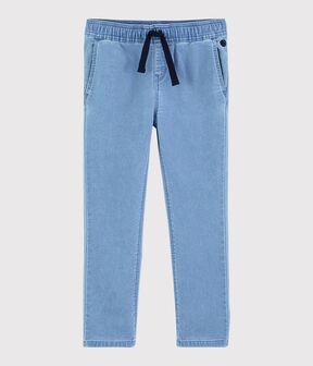 Boys' Denim Fleece Trousers Denim clair blue