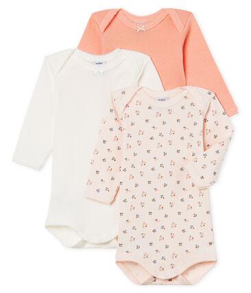 Baby Girls' Long-Sleeved Bodysuit - Set of 3