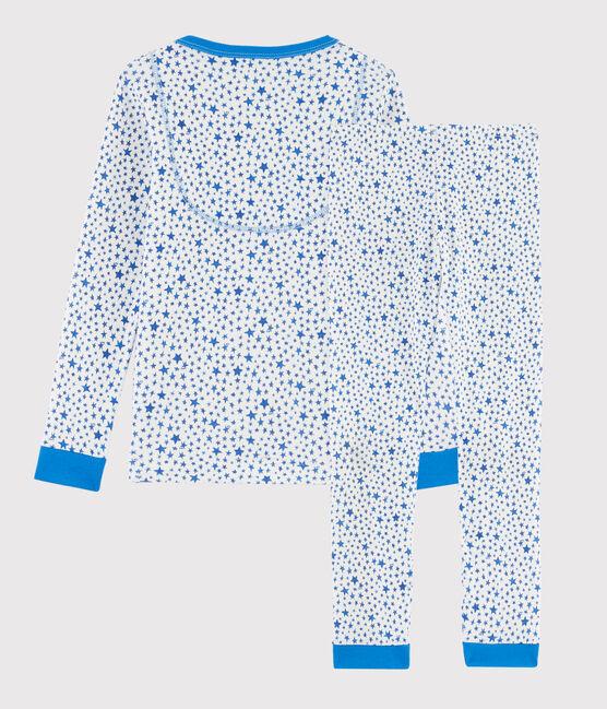 Boys' Starry Print Snugfit Ribbed Pyjamas Marshmallow white / Multico white