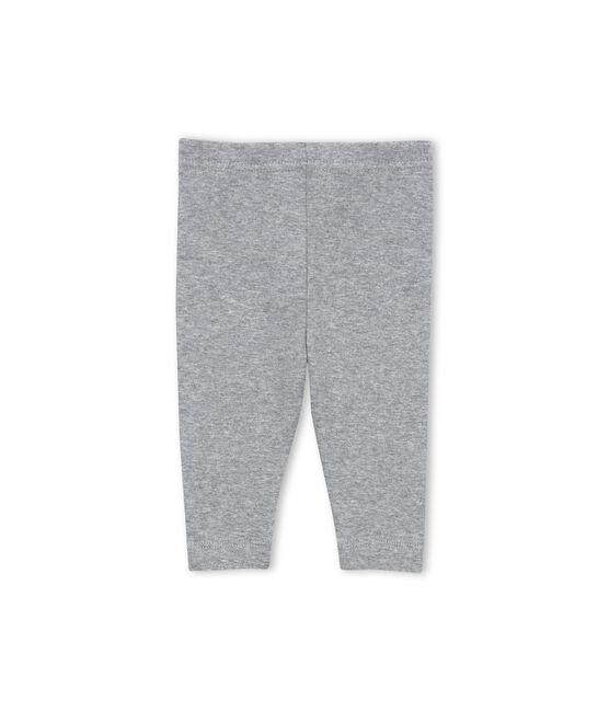 Baby girl plain leggings Subway grey
