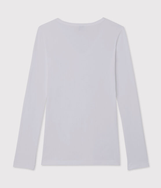 Women's iconic V-neck T-shirt Ecume white