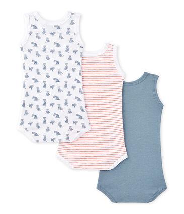 Pack of 3 baby sleeveless bodysuits