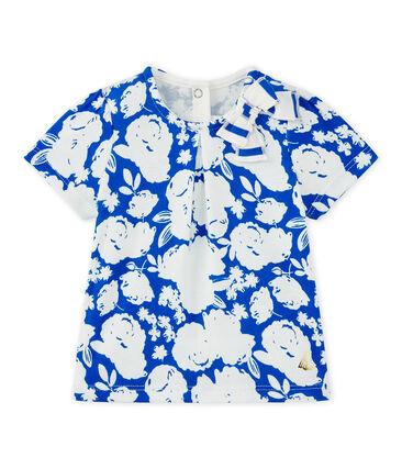 Baby girl's print T-shirt Marshmallow white / Multico white
