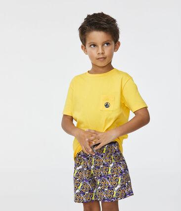 Boys' Beach Shorts Marshmallow white / Multico white