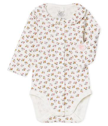 Newborn Baby Girls' Long-Sleeved Ribbed Bodysuit