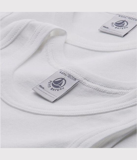 Set of 2 boys' white vests . set