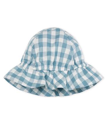 Unisex baby hat Fontaine blue / Marshmallow white