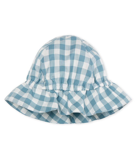 Unisex baby hat Fontaine blue / Marshmallow white