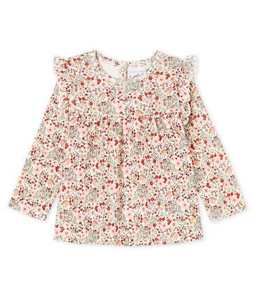 Baby Girls' Long-Sleeved Print Blouse Marshmallow white / Multico Cn white