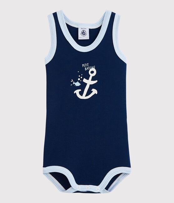 Baby Boys' Sleeveless Bodysuit Medieval blue