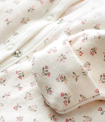 Baby girl's print tubic combi sleepsuit