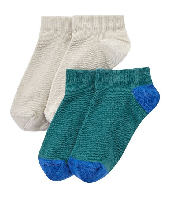 Set of 2 pairs of boy's ankle socks . set