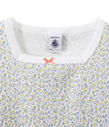 Chemise de nuit fille imprimée Ecume white / Multico white
