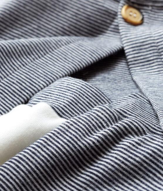 Baby Boys' Ribbed Clothing - 3-piece set Marshmallow white / Smoking blue
