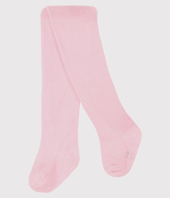 Baby Girls' Plain Jersey Tights Vienne pink
