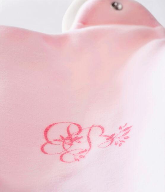 Baby girl's plain velour sleeping bag VIENNE